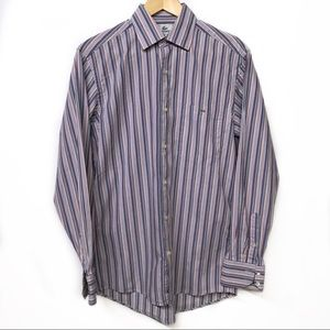 LACOSTE Small (38) Striped Button-down Shirt